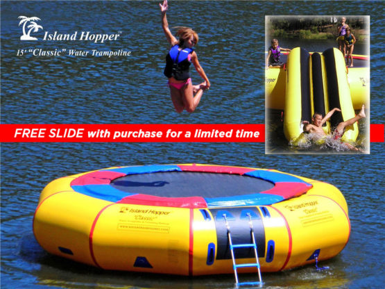 15 Foot Classic Water Trampoline With Free Slide limited time only