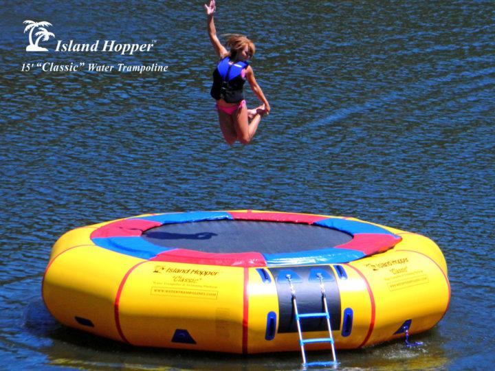 15' Island Hopper classic water trampoline