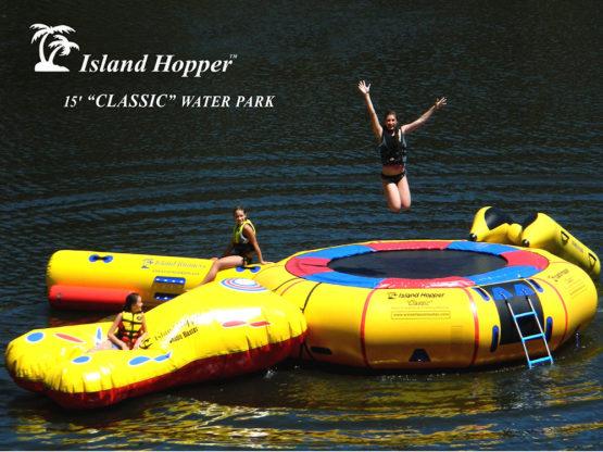 15 foot Island Hopper Classic Water Park water trampoline