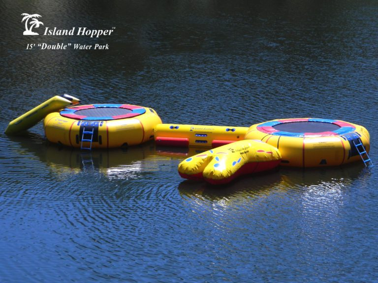 15 Foot Island Hopper Classic Double Water Park