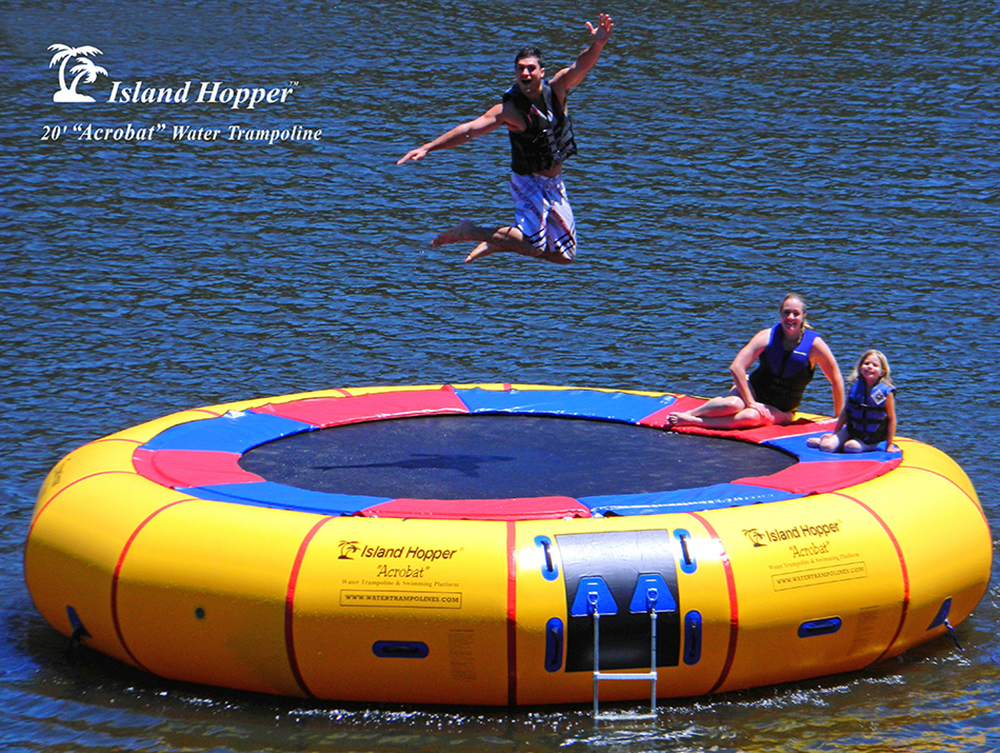 Island Hopper 174 20 Foot Acrobat Water Trampoline With Water
