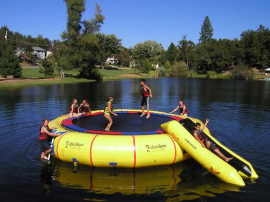 25 Foot Island Hopper Bounce N Slide Water Trampoline