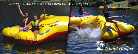 Island Hopper Double Blaster Water Trampoline Attachment