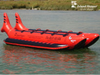 Island Hopper 10 Person The Red Shark Inflatable Banana Boat