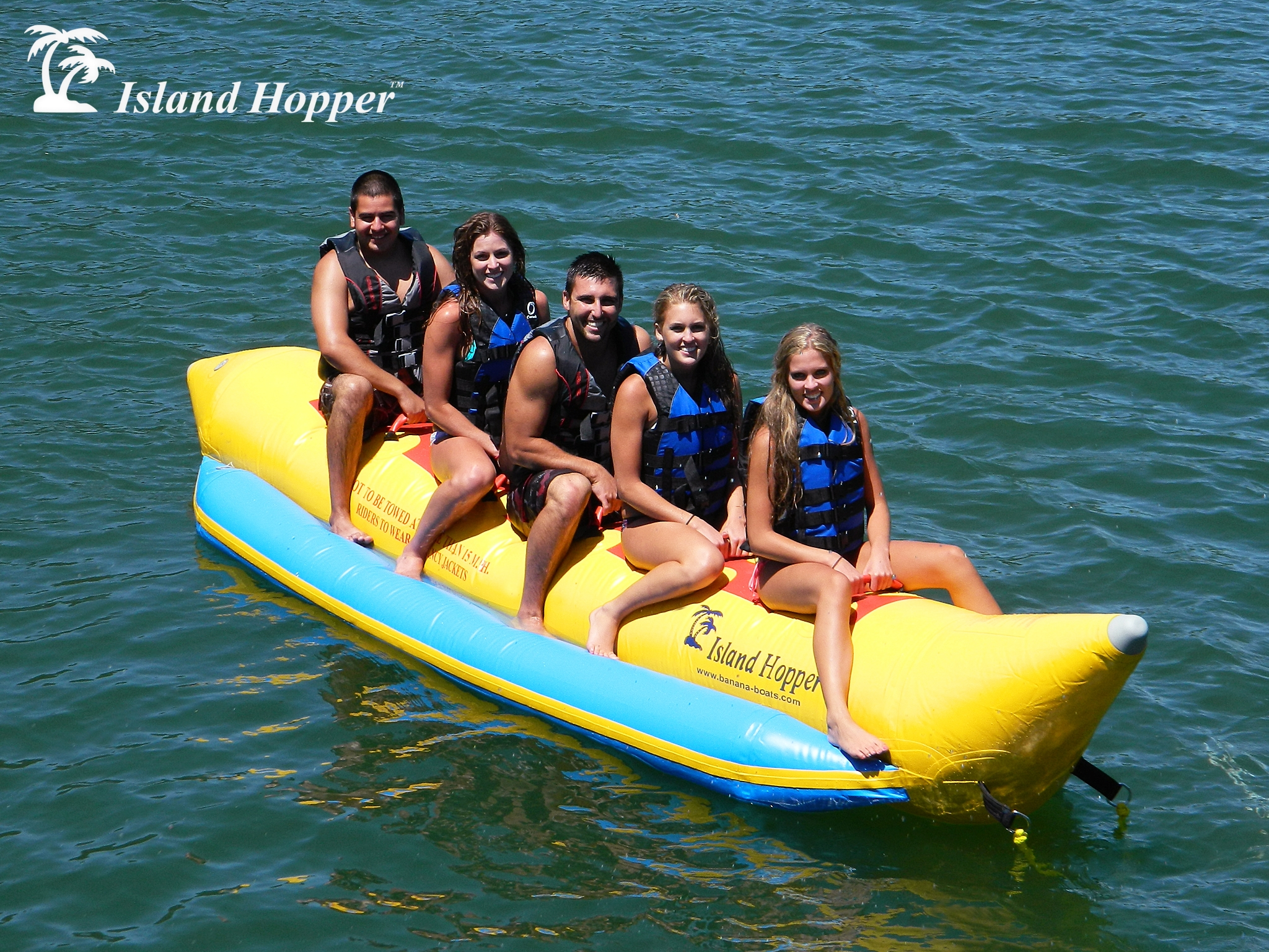 Heavy Recreational 5 Passenger Banana Boat Island Hopper Inflatable Towing Harness Person