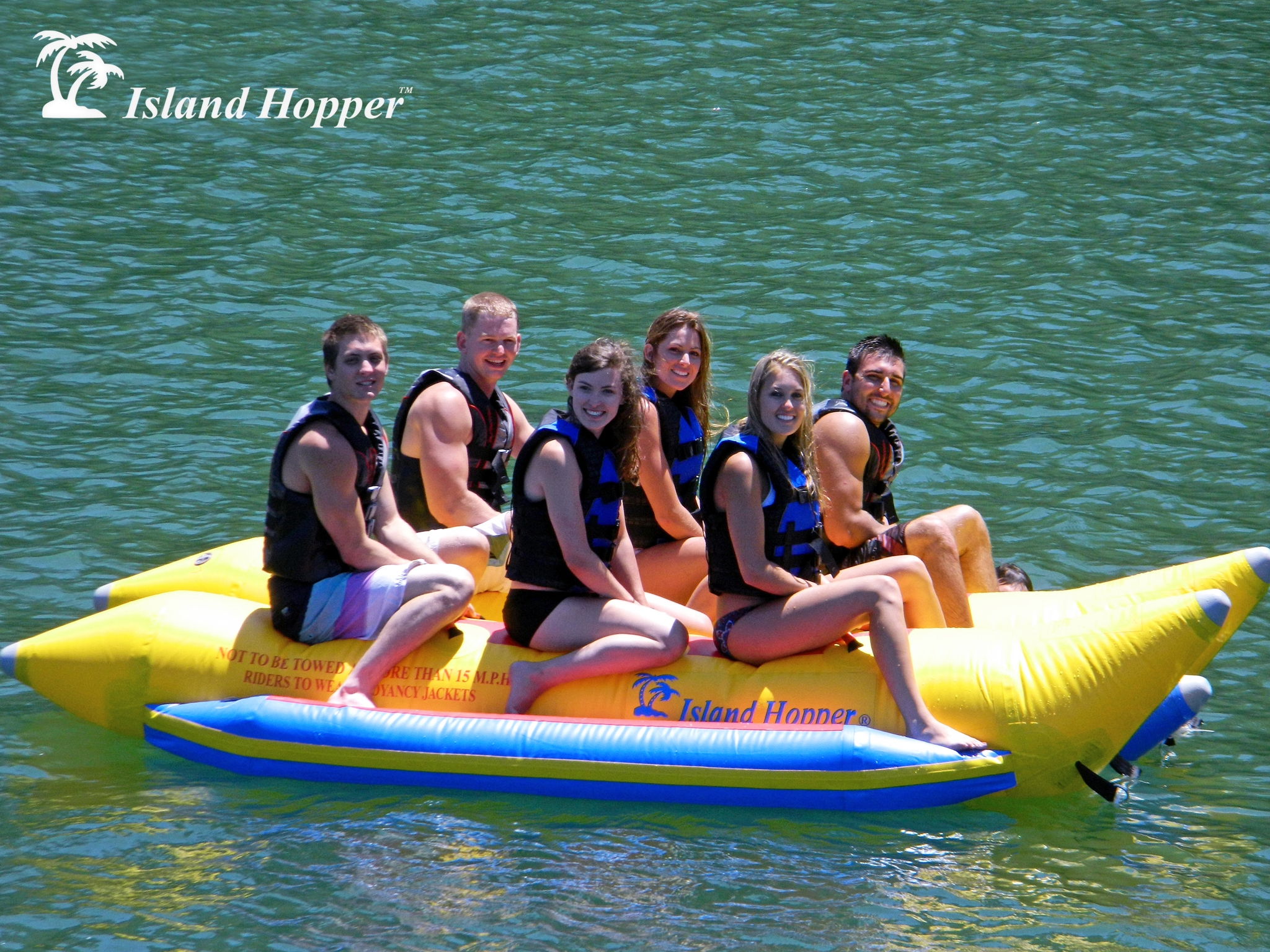 Banana Boat Elite Class 6 Passenger Side By Island Hopper Inflatable Towing Harness Person