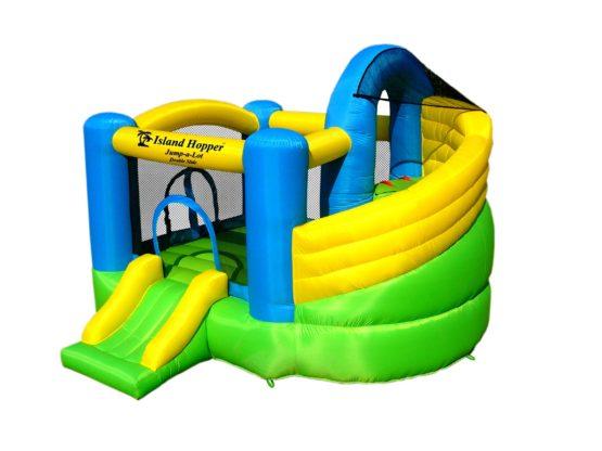 Island Hopper Double Slide Bounce House