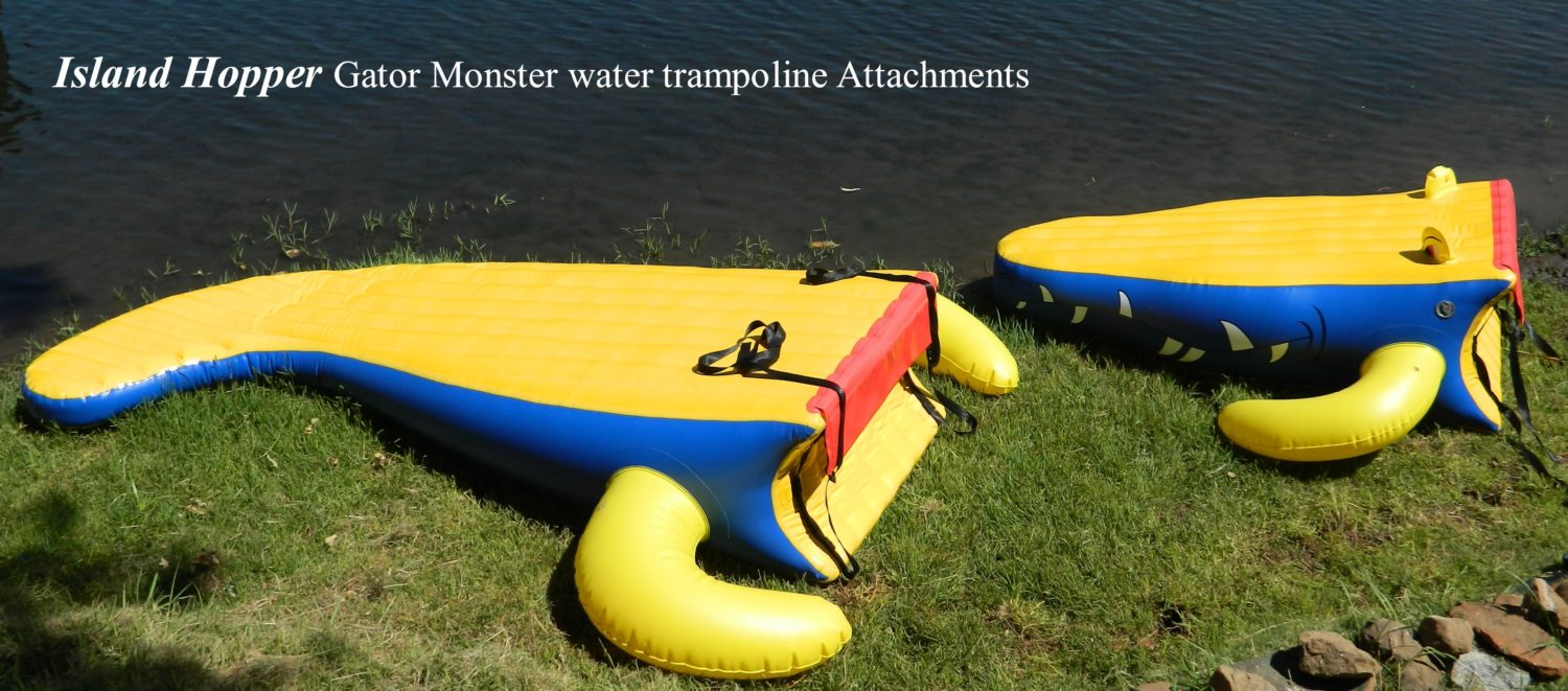 Island Hopper Gator Monster Water Trampoline Slide Attachments