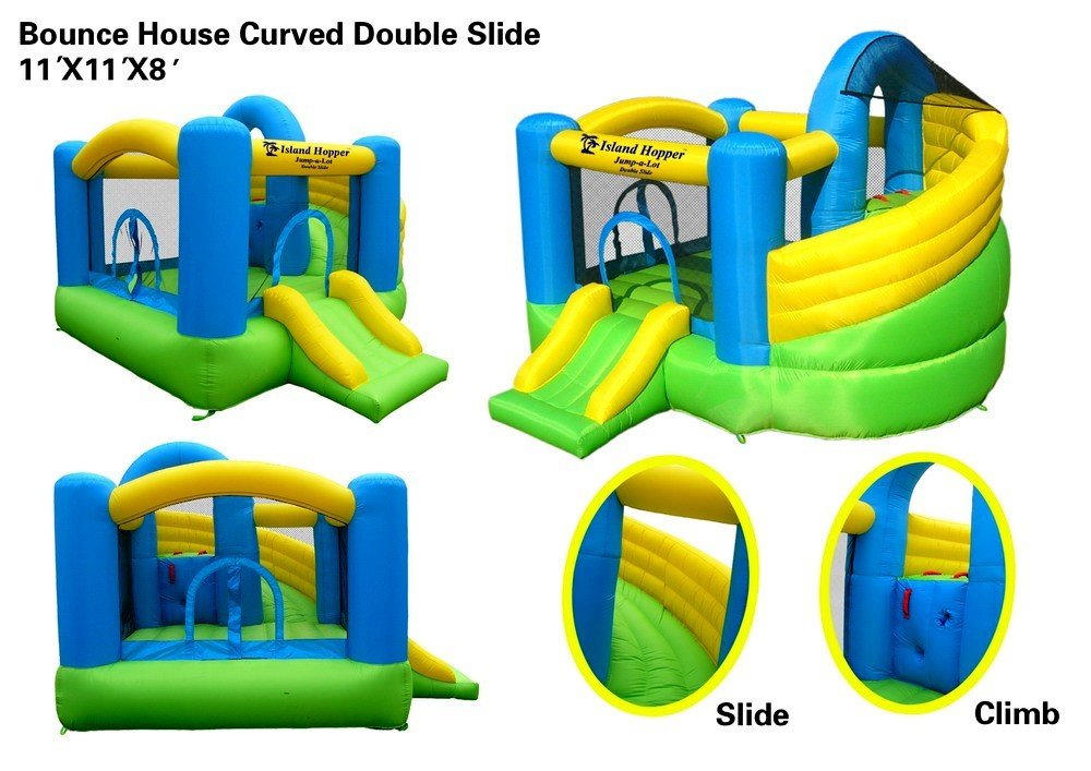 Island Hopper Double Slide Bounce House