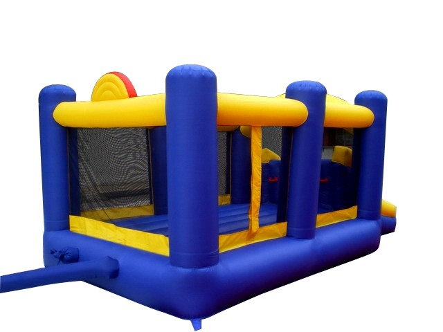 Island Hopper Racing Slide Slam Bounce House