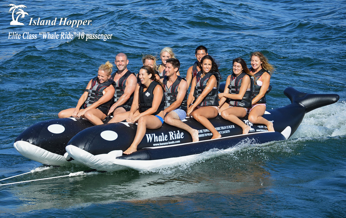 Island Hopper 10 Person Whale Rider Inflatable Banana Boat