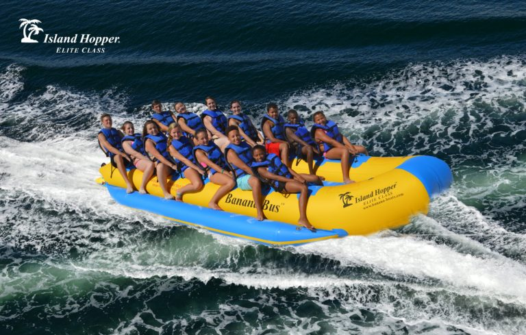 Island Hopper 14 Person Inflatable Banana Bus