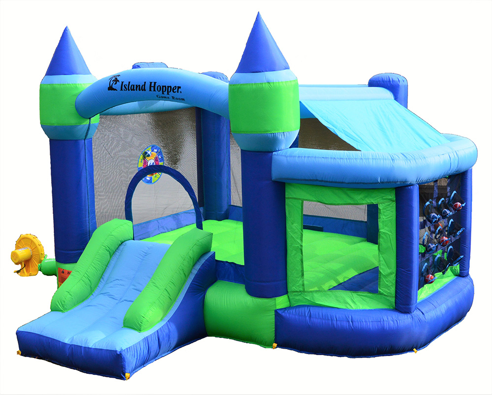 Island Hopper Shady Game Room Inflatable Fun House