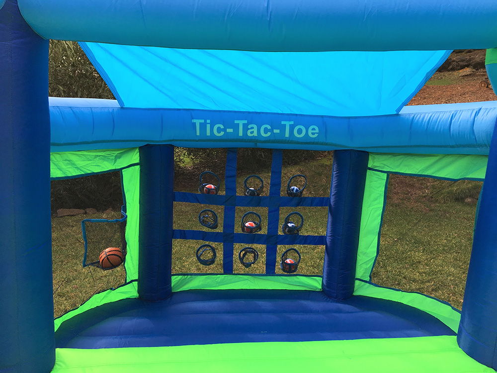 Shady Game Room Inflatable Fun House with Tic Tac Toe Ball Game