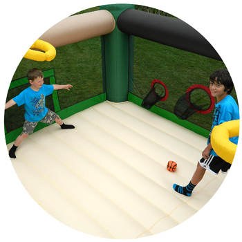 Island Hopper Fort All Sport Bounce House Soccer Shot Game