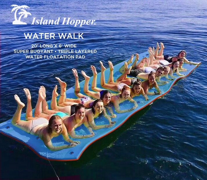 Island Hopper 174 20 Foot Water Walk Floating Foam Mat