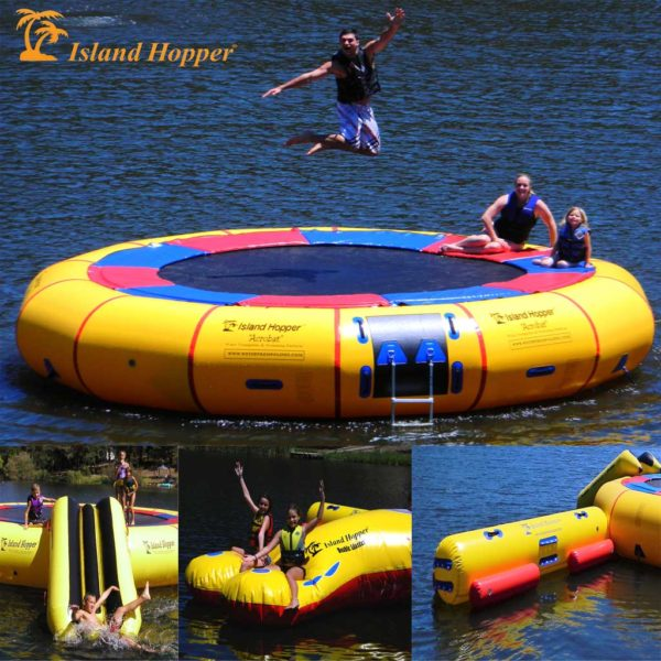 20 foot island hopper water park with 3 attachments